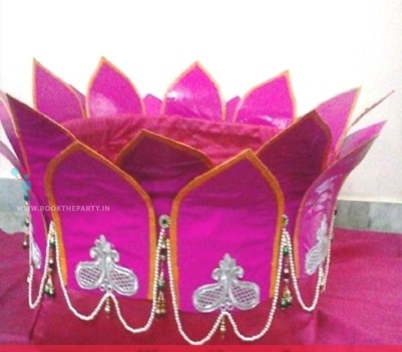 Pelli Butta with Pink Velvet Cloth