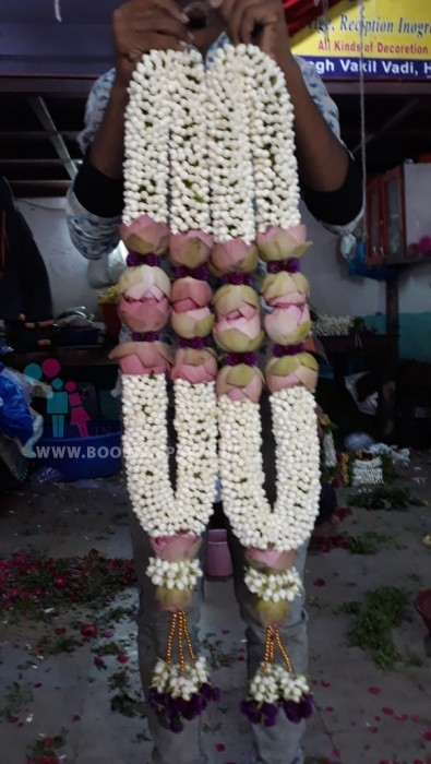 Dagar Flowers with Lotus Garland
