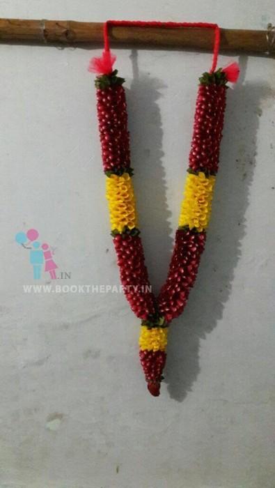Red & Yellow Rose Petals Garland